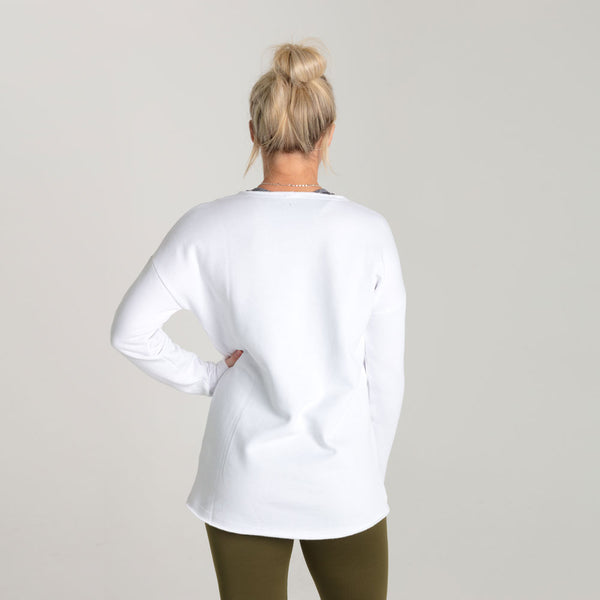 Icon | Women's Long Sleeve Training Sweatshirt | White