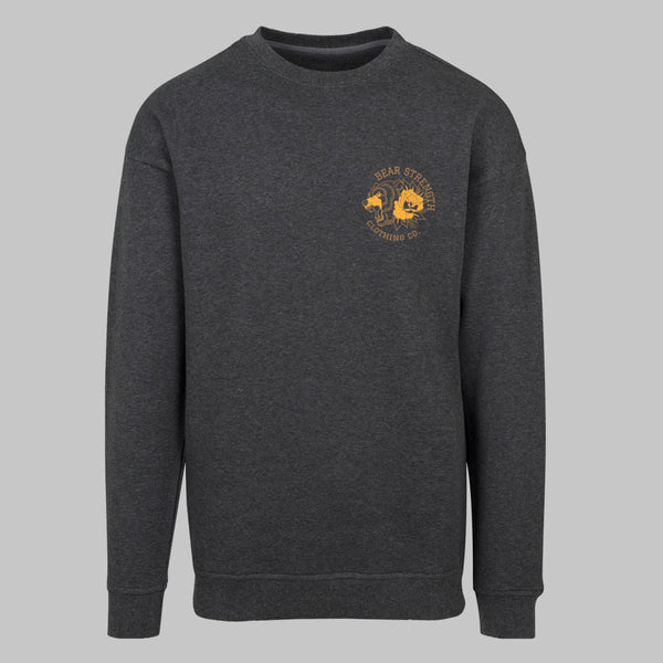 Into The Wild | Men's Long Sleeve Training Sweatshirt | Charcoal
