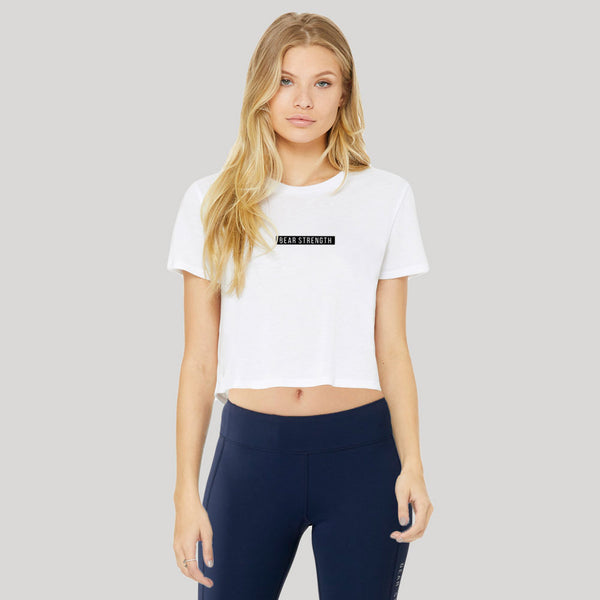 Icon Bold | Women's Cropped Training T-shirt | White