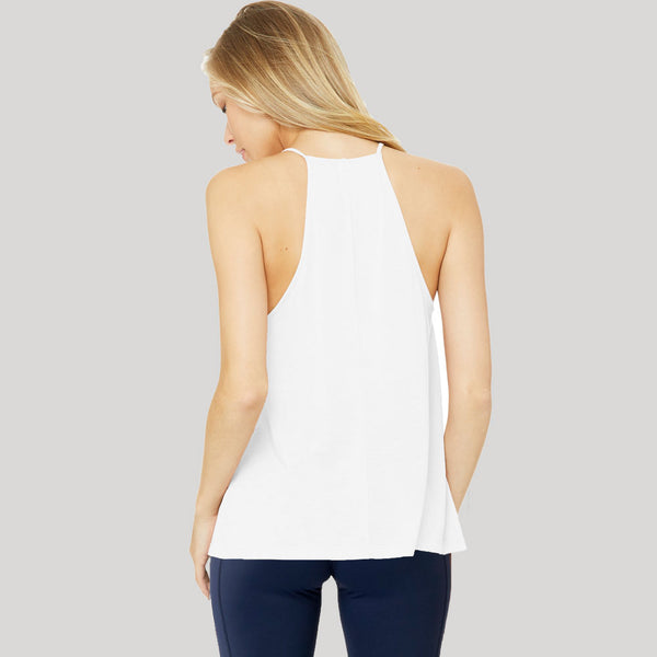 Icon Bold | Women's High Neck Training Tank | White