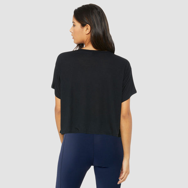 Icon Bold | Women's Flowy Boxy Training T-shirt | Black