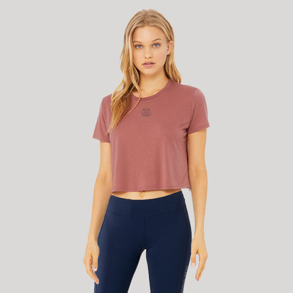 Origins | Women's Cropped Training T-shirt | Mauve