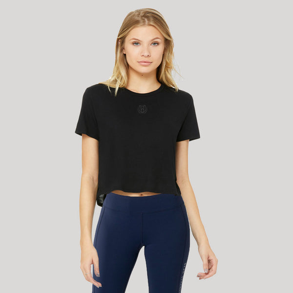 Origins | Women's Cropped Training T-shirt | Black