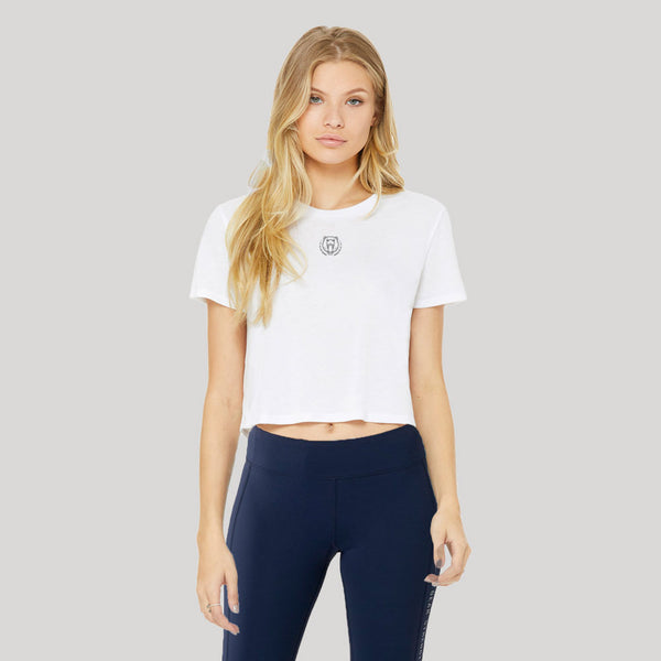 Origins | Women's Cropped Training T-shirt | White