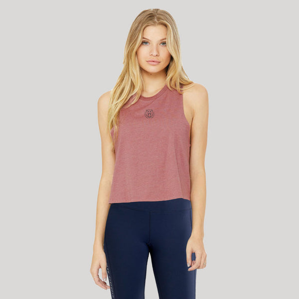 Origins | Women's Cropped Training Tank | Mauve
