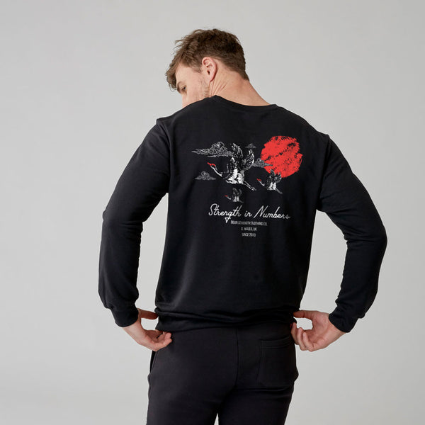 Strength In Numbers | Mens Training Sweatshirt | Black