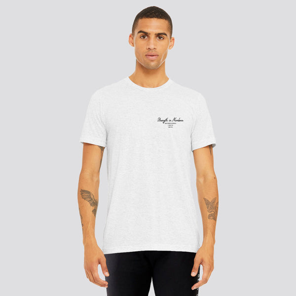 Strength In Numbers | Men's Short Sleeve Training T-shirt | Marl White