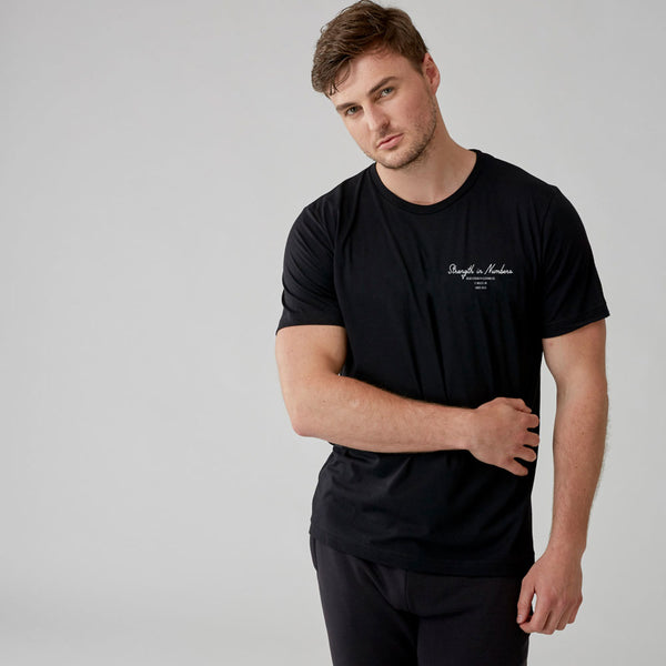 Strength In Numbers| Men's Short Sleeve Training T-shirt | Black