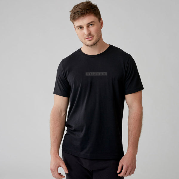 United By Strength | Men's Short Sleeve Training T-shirt | Black