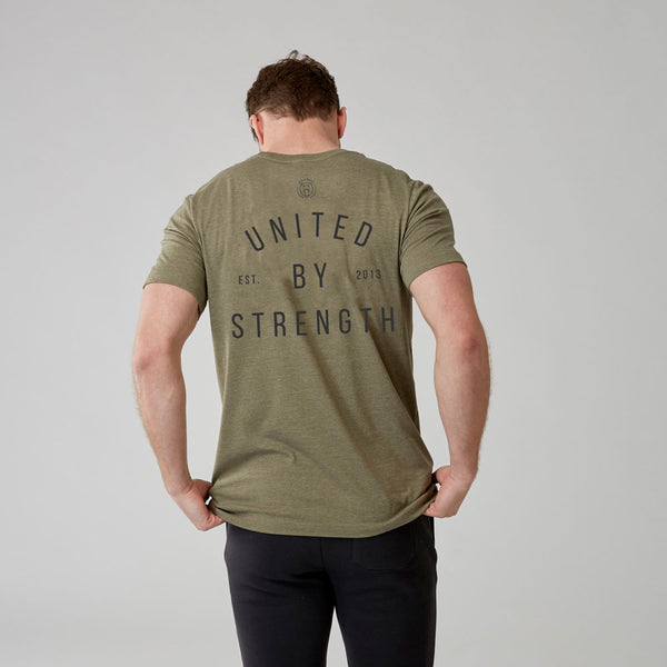 United By Strength | Men's Short Sleeve Training T-shirt | Olive