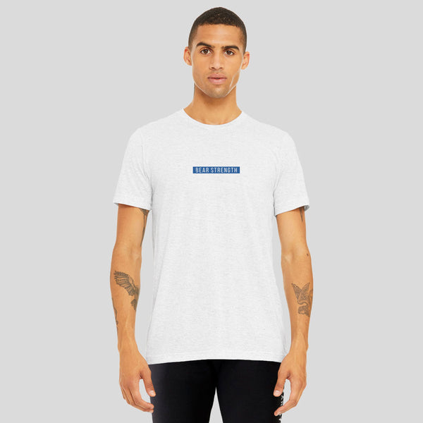 United By Strength | Men's Short Sleeve Training T-shirt | Marl White