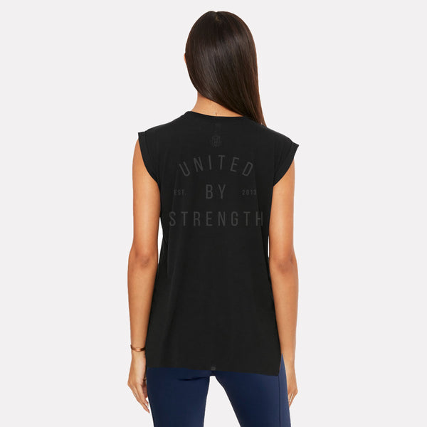 United By Strength | Women's Short Sleeve Training T-shirts | Black