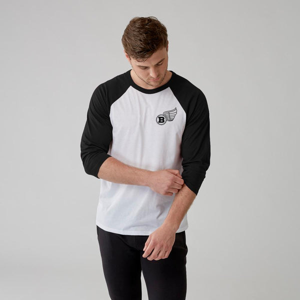 Flying B | Men's Raglan Training Top | White-Black