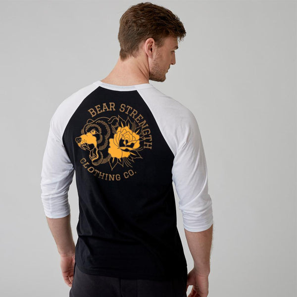 Into The Wild | Men's Raglan Training Top | Black-White