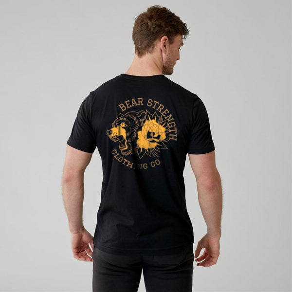 Into The Wild | Men's Short Sleeve Training T-shirt | Black