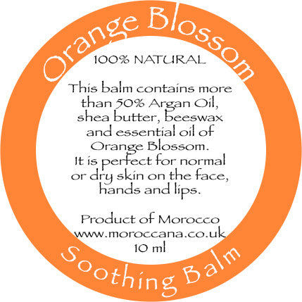 Orange Blossom Soothing Balm 10ml - Moroccana