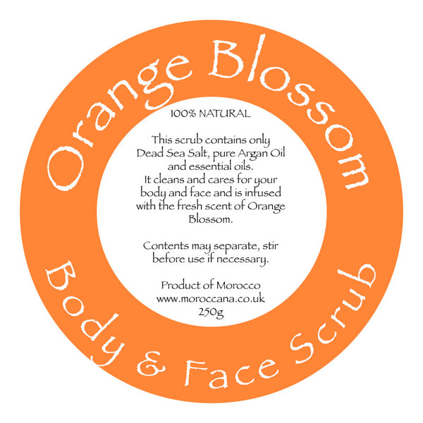 Orange Blossom Body Scrub 250g - Moroccana