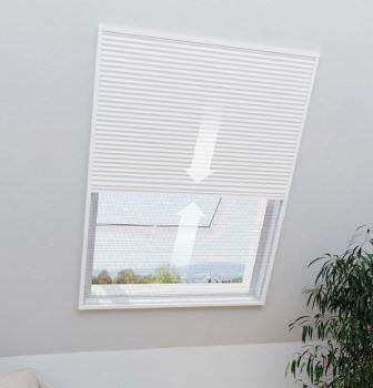 2-in-1 Pleated Blind & Flyscreen for FAKRO, DAKSTRA,ROOFLITE Windows