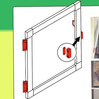 Magnetic Closure For Flyscreen Window Or Door White 6