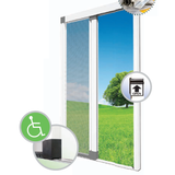 Roll-out Fly Screen | Door | Custom Size | Flat Bottom Rail
