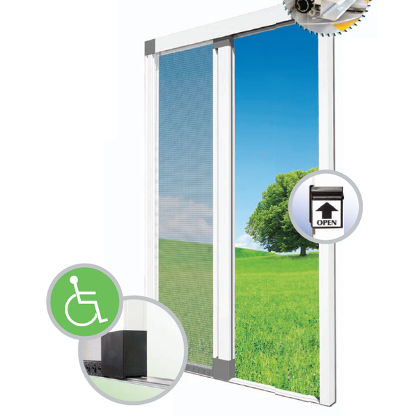 Buy Roll Out Flyscreen Door With Flat Bottom Rail Buzzstop