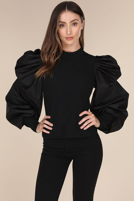 St. Claire Bubble Sleeve Top - Sale