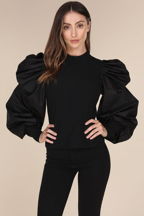 New Arrivals St. Claire Bubble Sleeve Top