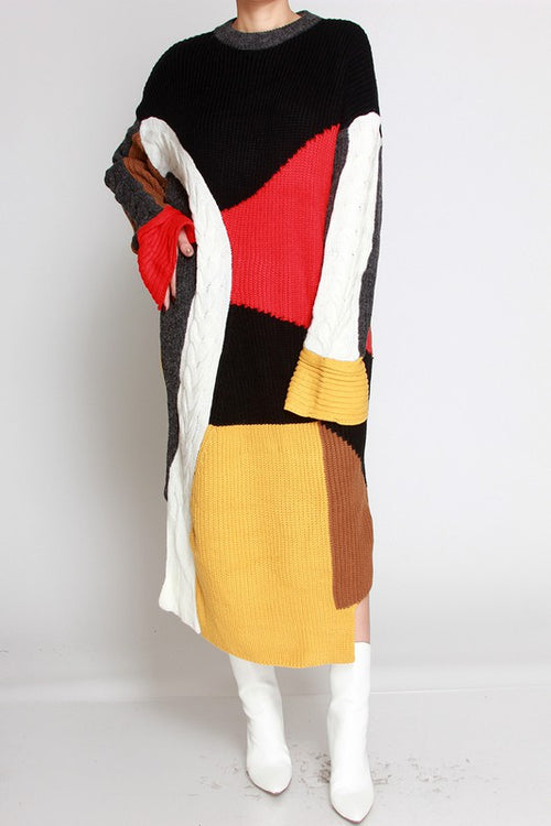 New Arrivals - Color Me Good Sweater Dress