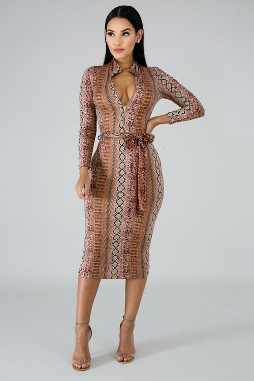 Snakeskin Dress - Sale