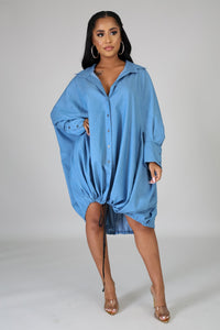 All or Nothing  Oversize Denim Dress | Sale