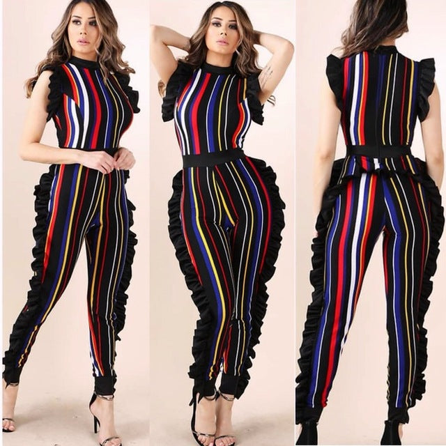 Ruffle My Stripes Jumpsuit
