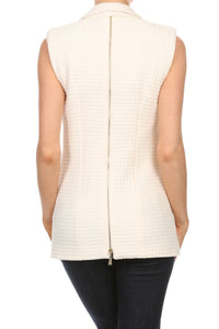 Relaxed Back Zipped Vest | Cardigan