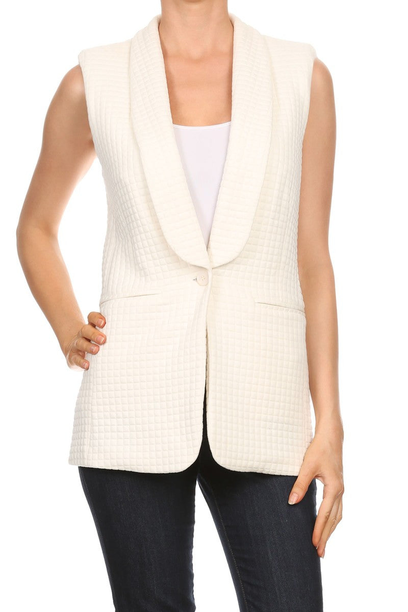 Relaxed Back Zipped Vest | Sale