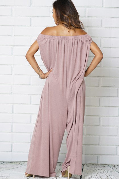 Sonia Off Shoulder Jumpsuit w/Pockets | Sale