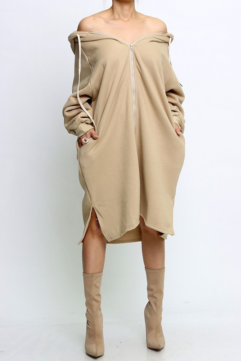 New Arrivals Oversize Hoodie Dress with pockets