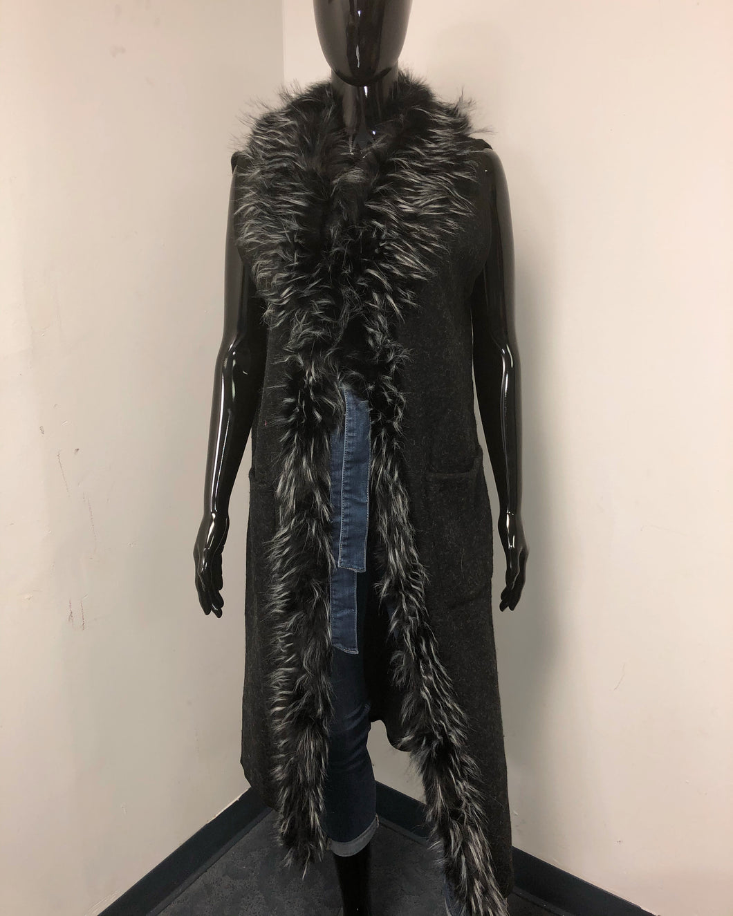 Fur Vest Jacket - Sale