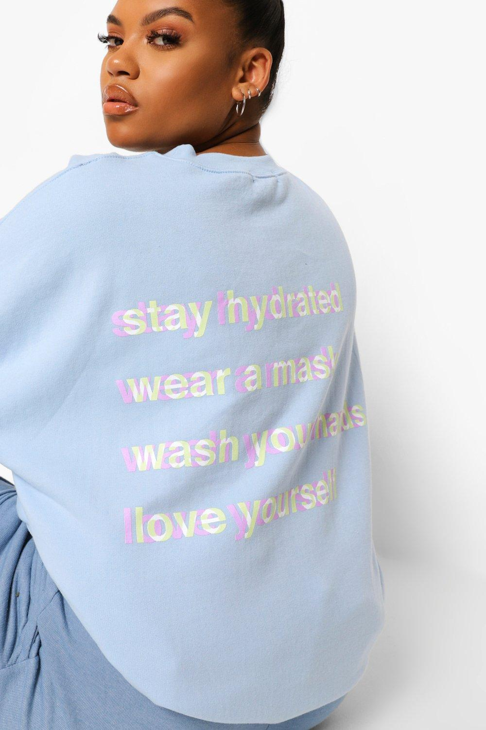 New Arrivals -  Self Care Sweatshirt Curvy