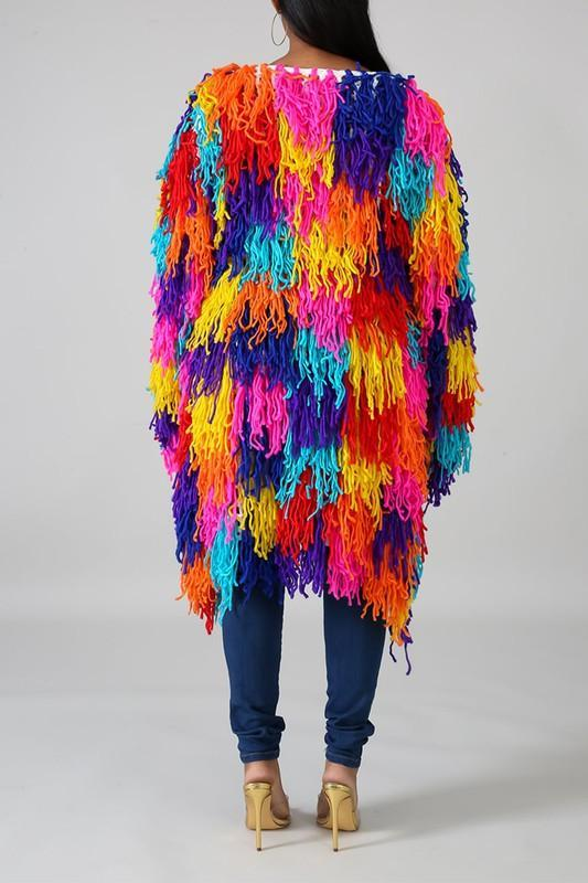Color Fringe  Outerwear