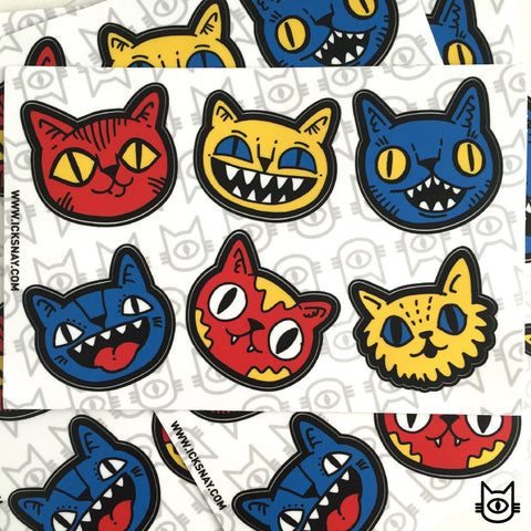 FAT CAT Sticker Sheet