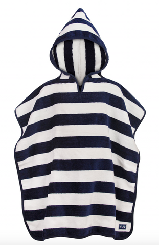 Kid's Beach Cover-up- Navy & White 2-6y