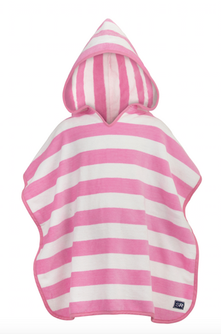 Kid's Beach Cover-up - Pink & White 2-6y