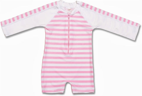 Baby & Toddler Long Sleeve Sunsuit, Pink