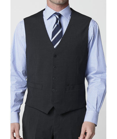 Men's Waistcoat- Mix & Match Travel Suit, Charcoal