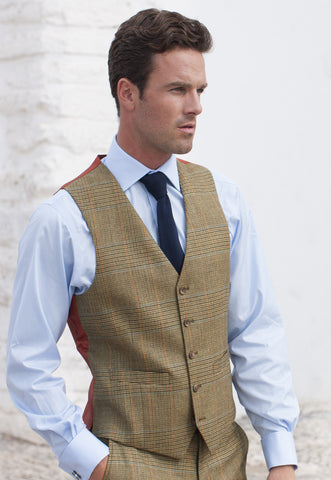 Country Suit Waistcoat, Summer Tweed -  Mix & Match Suit