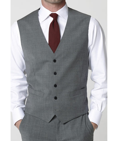 Men's Waistcoat - Mix & Match Travel Suit, Grey