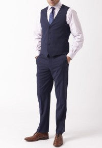 Men's Waistcoat - Mix & Match Travel Suit, Blue