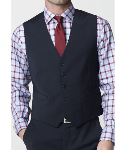 Men's Waistcoat - Mix & Match Travel Suit, Navy