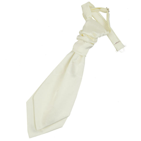 Boys Plain Cravat -  Ivory