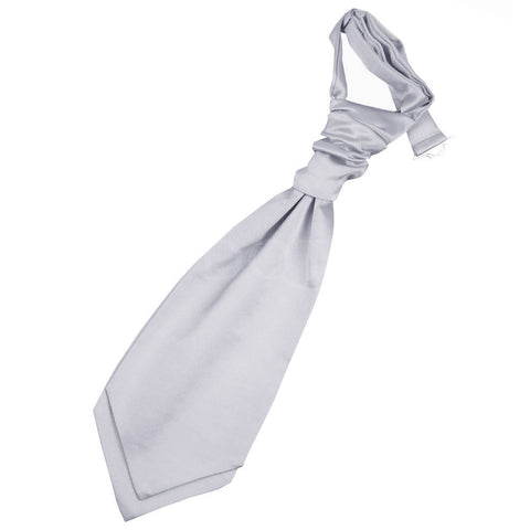 Boys Plain Cravat -  Silver