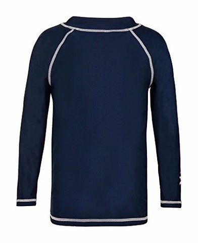 Kid's Long Sleeve Rash guard, Navy- UPF 50+